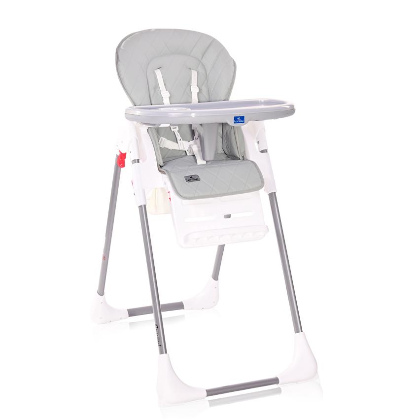 Jídelní židlička Lorelli CRYSPI COOL GREY LEATHER