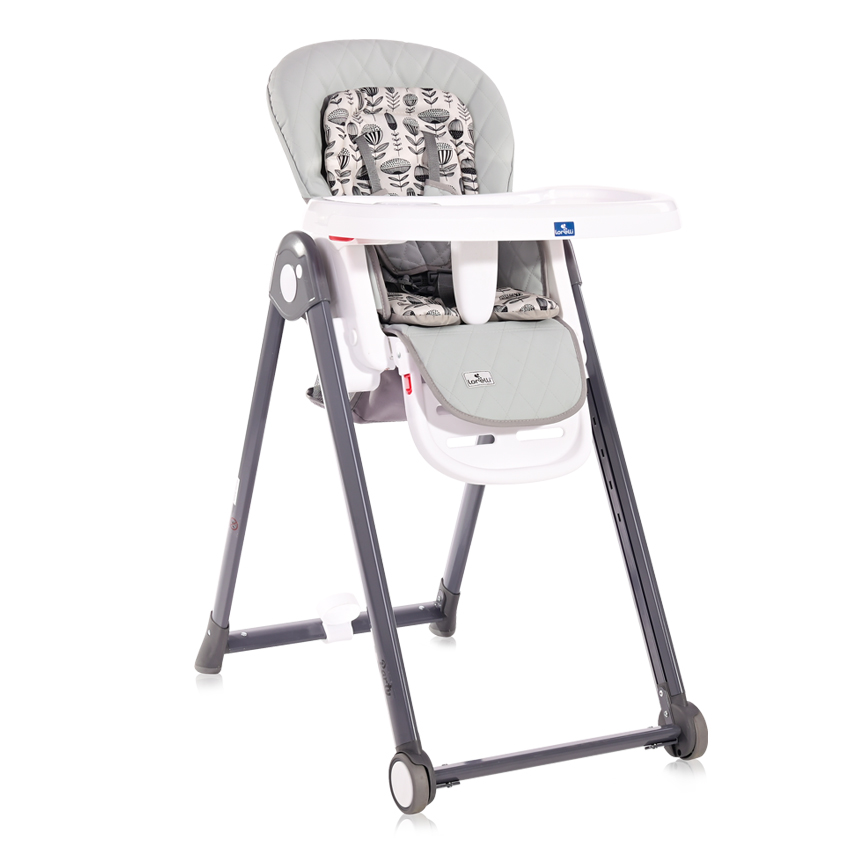 Jídelní židlička Lorelli PARTY COOL GREY LEATHER