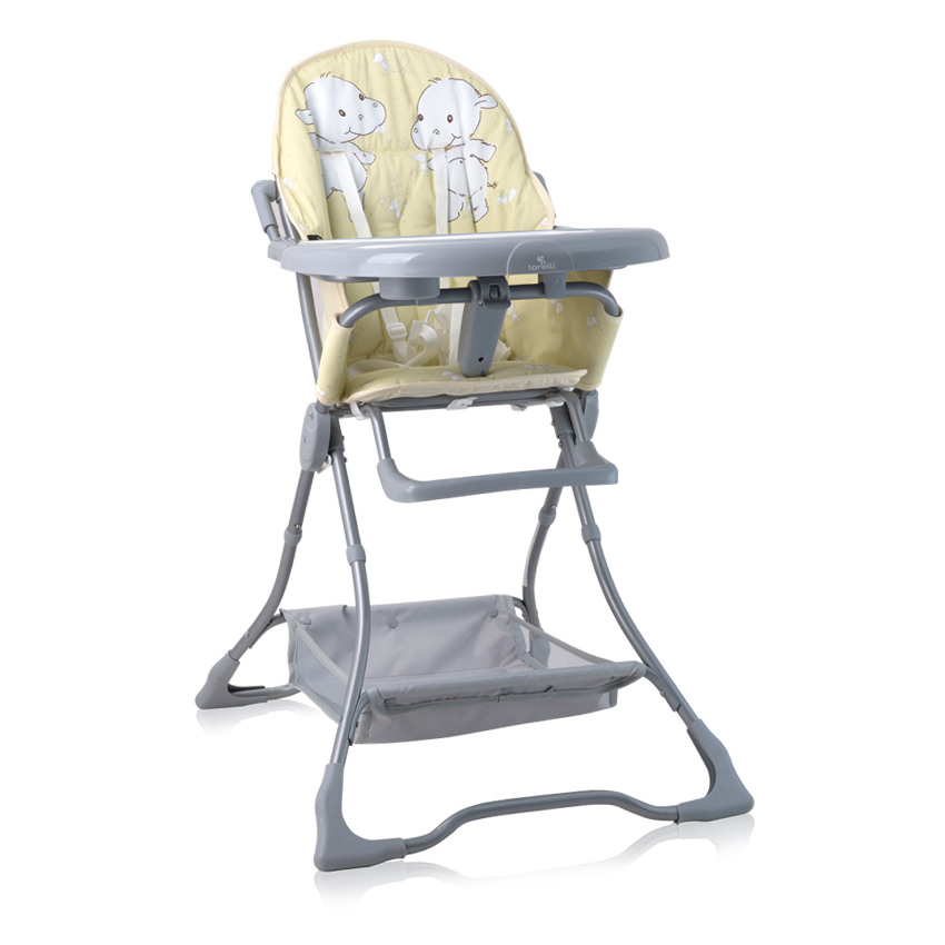 Jídelní židlička Lorelli BONBON YELLOW HAPPY HIPPO