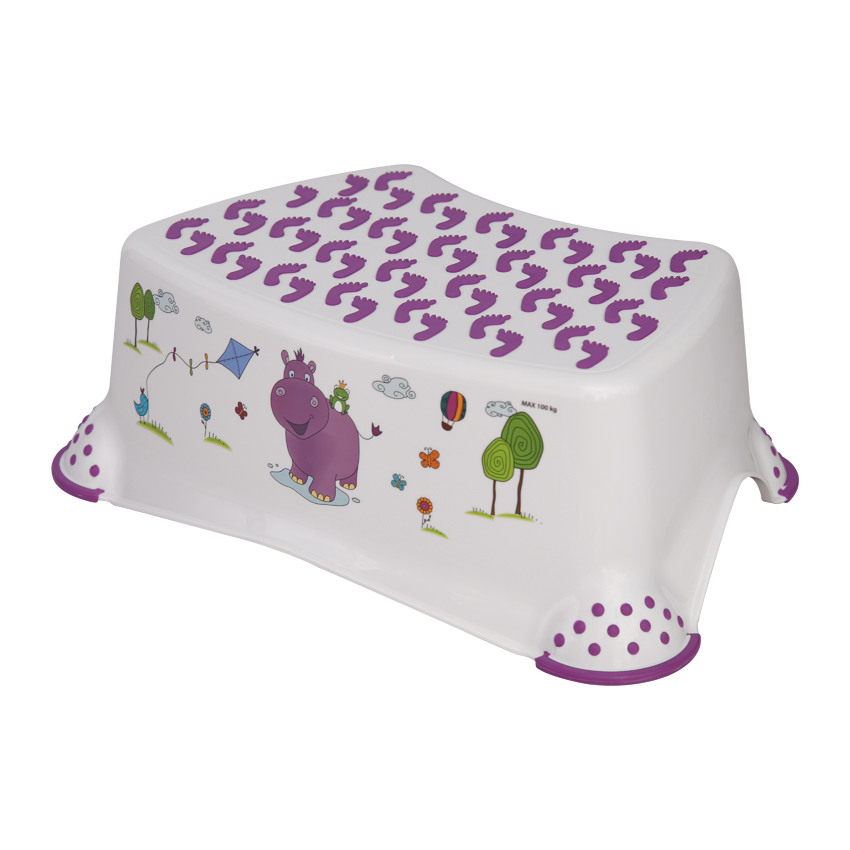 Krok stolička HIPPO WHITE