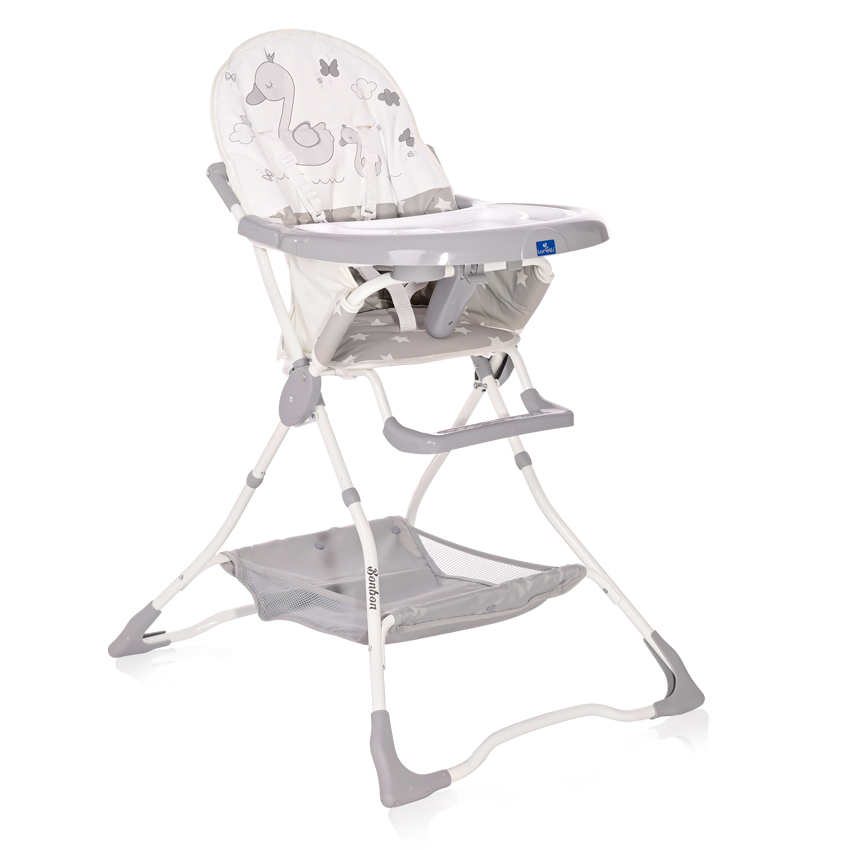 Jídelní židlička Lorelli BONBON GREY SWAN