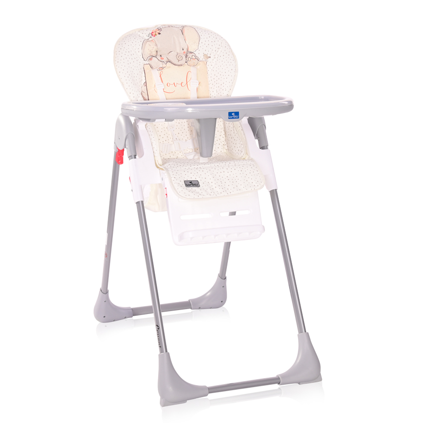 Jídelní židlička Lorelli CRYSPI GREY ELEPHANT