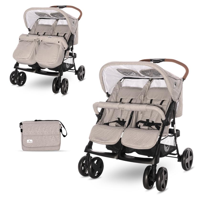Kočík pre dvojčatá Lorelli TWIN STRING+Taška na kočík