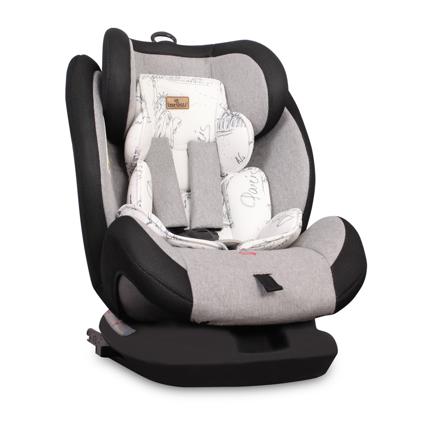 Autosedačka CORSICA ISOFIX 0-36KG BLACK&GREY CITIES