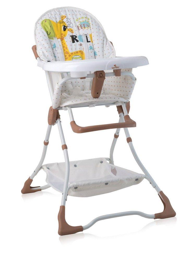 Jídelní židlička Lorelli BONBON BEIGE&WHITE GIRAFFE