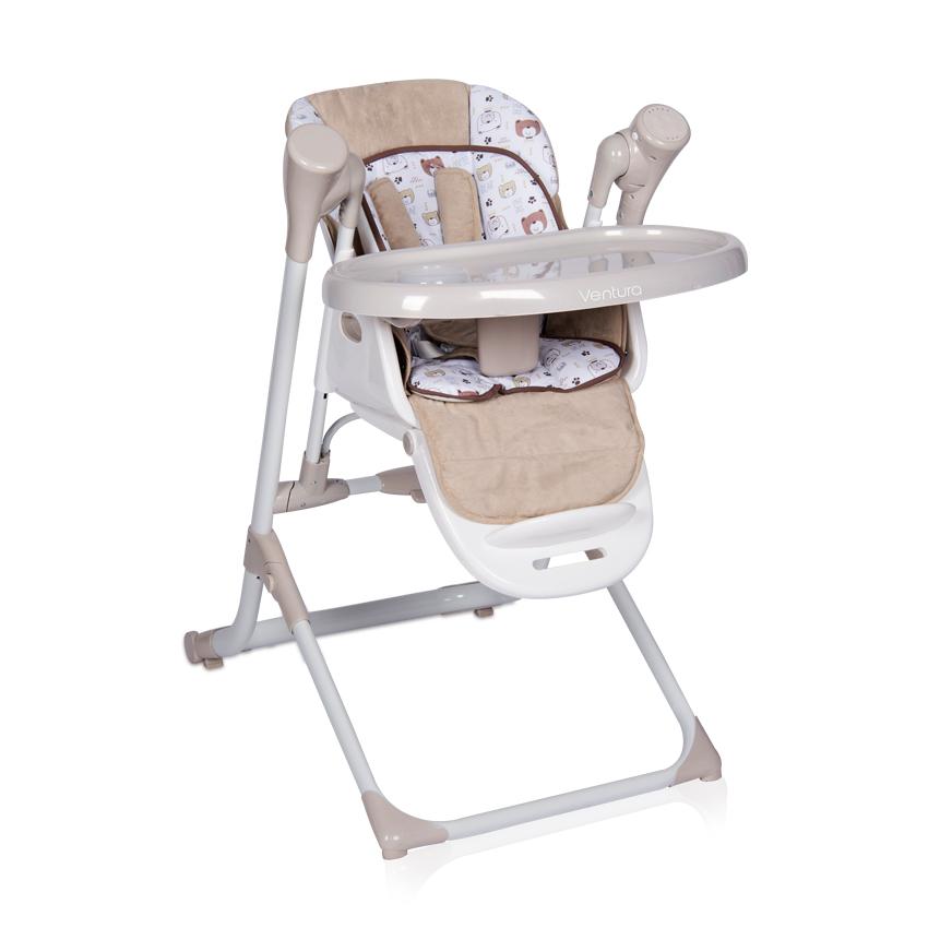 2v1 Jídelní židlička-houpačka Lorelli VENTURA BEIGE