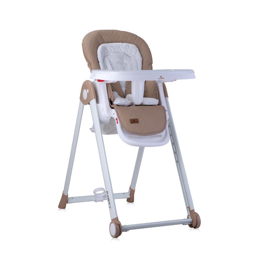 Jídelní židlička PARTY BEIGE PU LEATHER