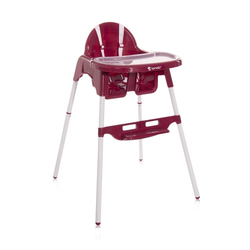 Jídelní židlička Lorelli AMARO DARK PINK