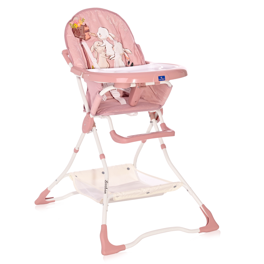 Jídelní židlička Lorelli BONBON BEIGE ROSE RABBITS