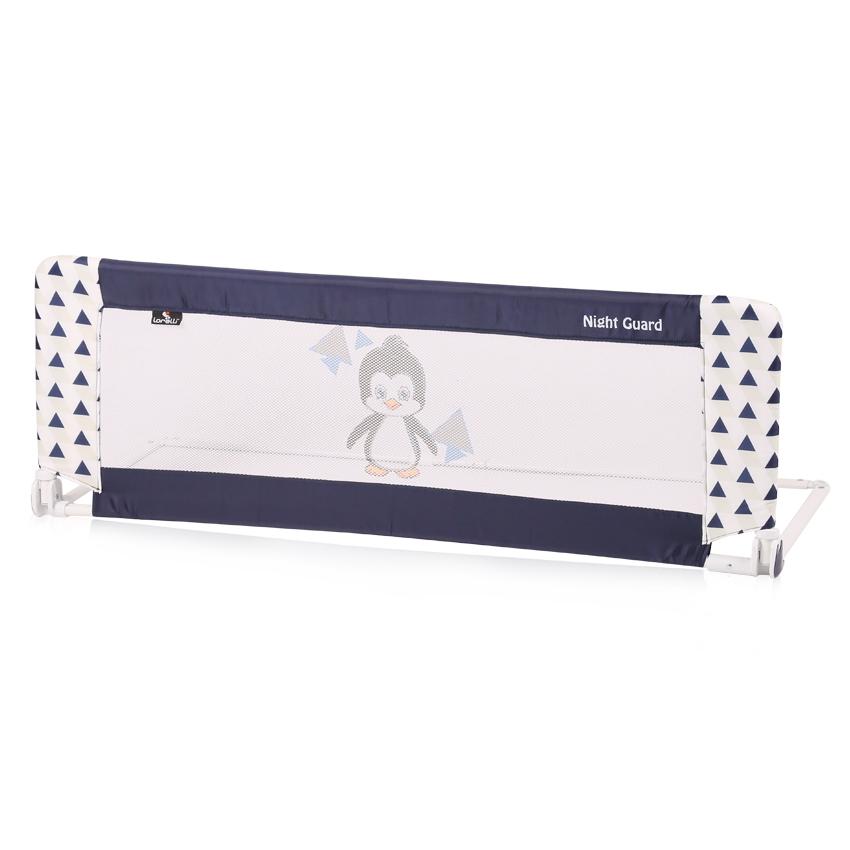BABY Dětská postýlka RAIL NIGHT GUARD BLUE&WHITE PENGUIN