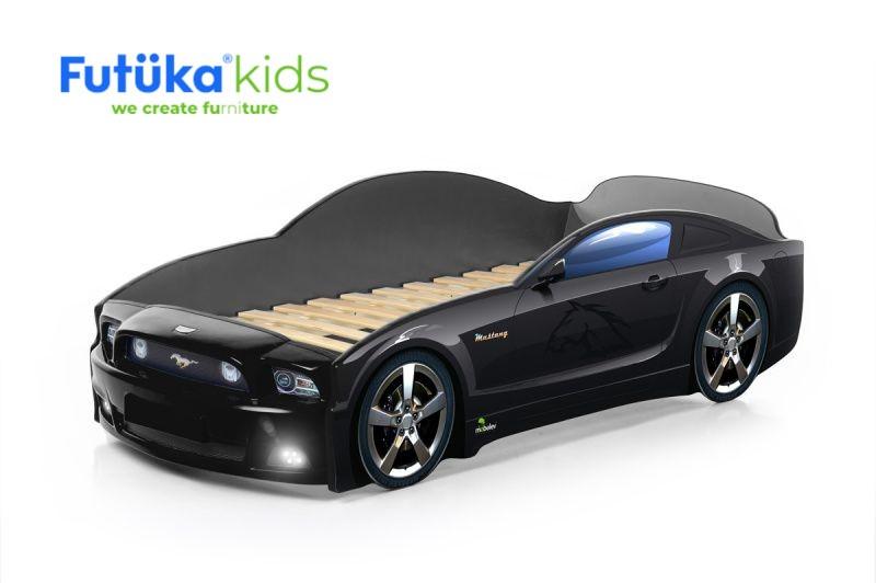 Postel auto LIGHT PLUS  F-Mustang  černá, LED světla