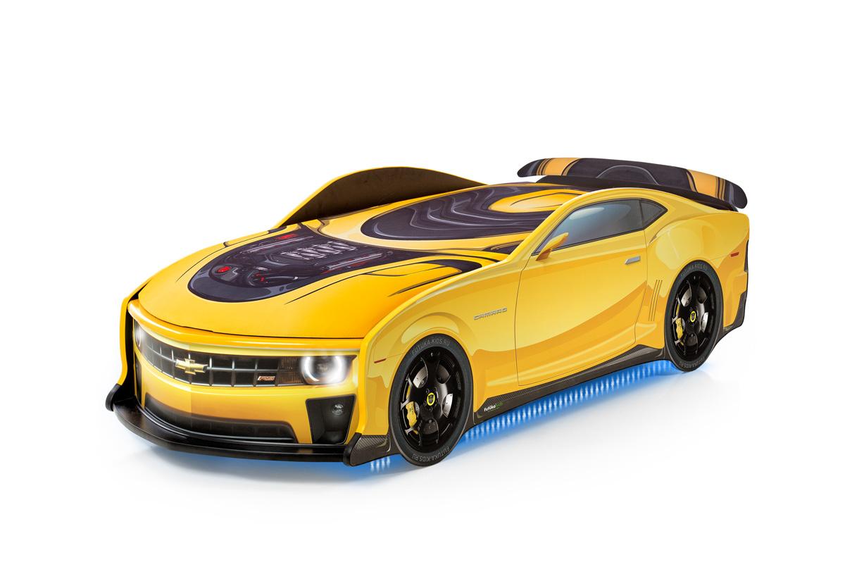 Postel auto UNO Kamaro, 3D, LED světla, Spodní světlo, Spojler