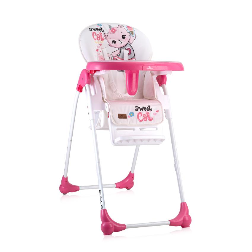 Jídelní židlička Lorelli DULCE PINK CAT