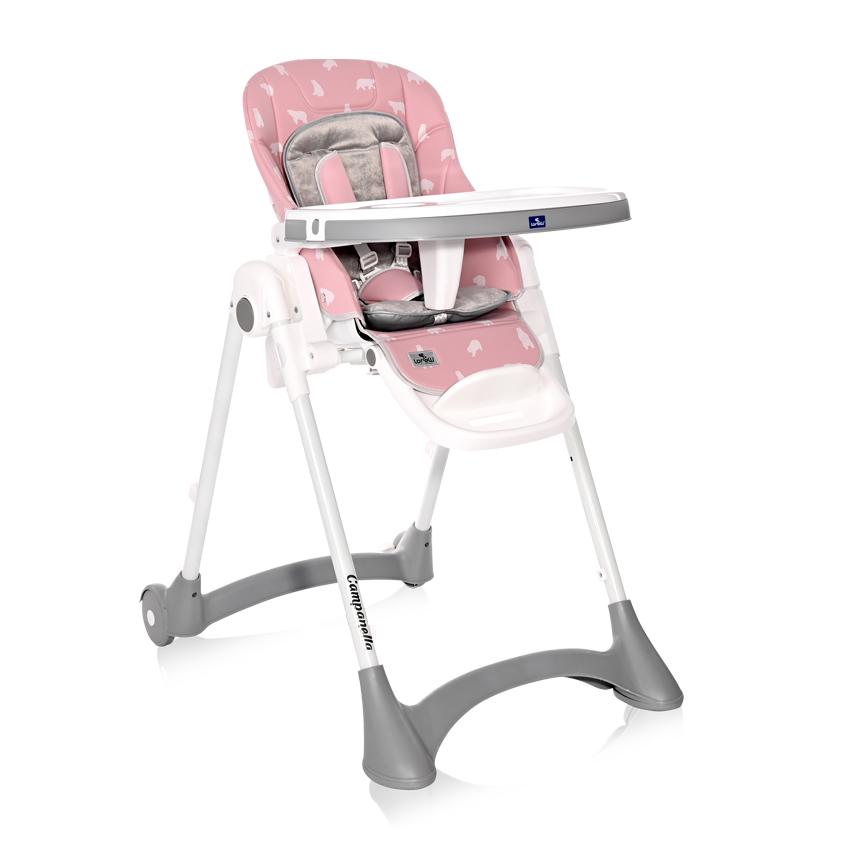 Jídelní židlička Lorelli CAMPANELLA PINK BEARS