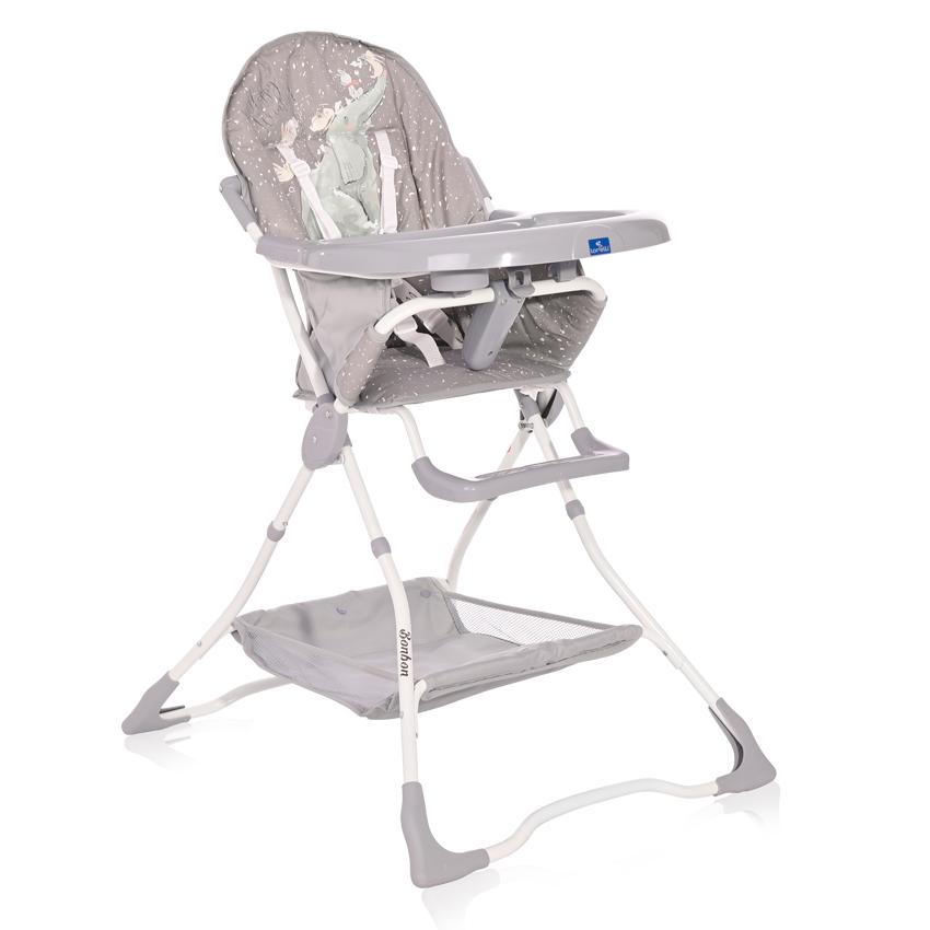 Jídelní židlička Lorelli BONBON GREY FUN