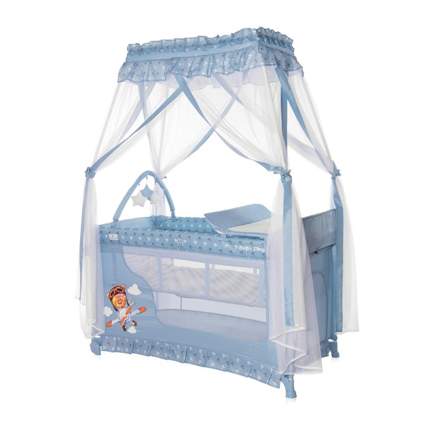 Cestovná postieľka Lorelli MAGIC SLEEP BLUE ADVENTURE