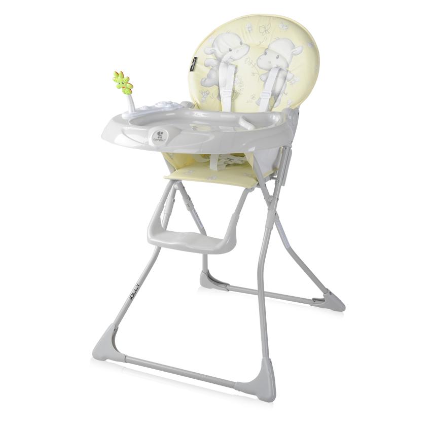 Jídelní židlička Lorelli JOLLY YELLOW HAPPY HIPPO