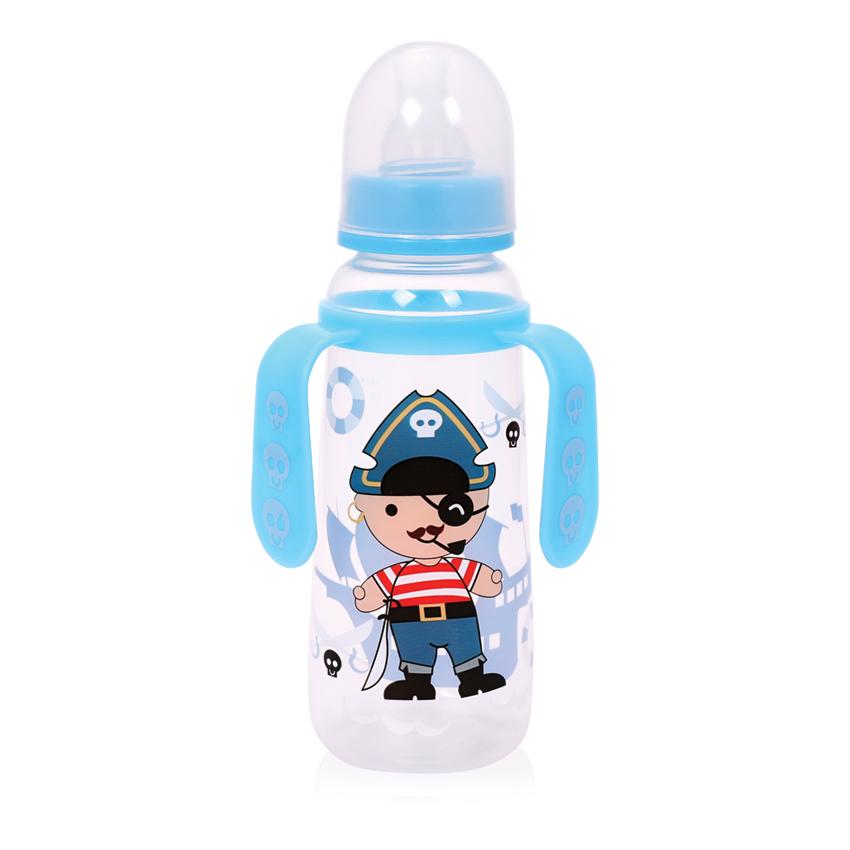 Detská fľaša s uškami Lorelli 250 ml BLUE PIRATE