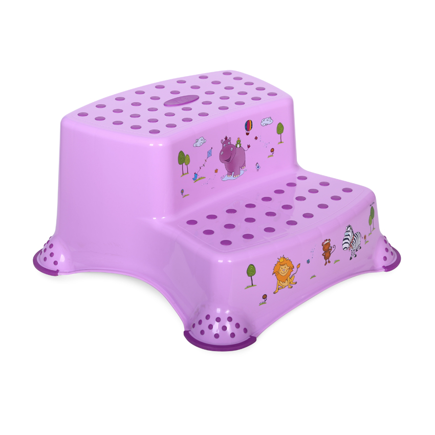 Krok stolička DOUBLE HIPPO LILAC