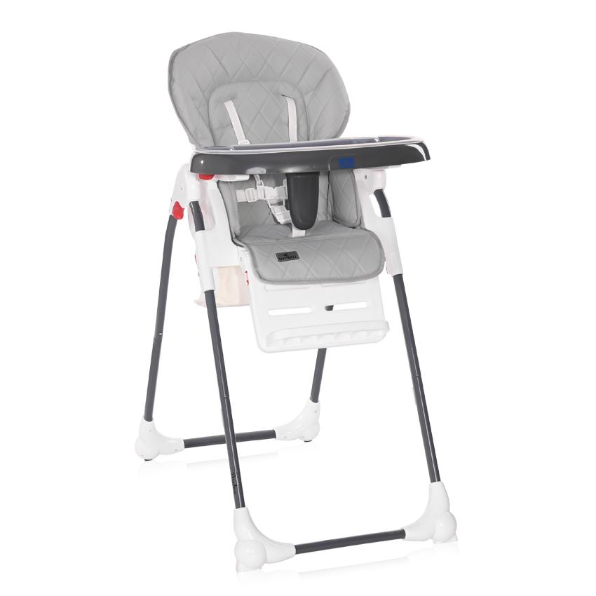 Jídelní židlička Lorelli DULCE COOL GREY LEATHER