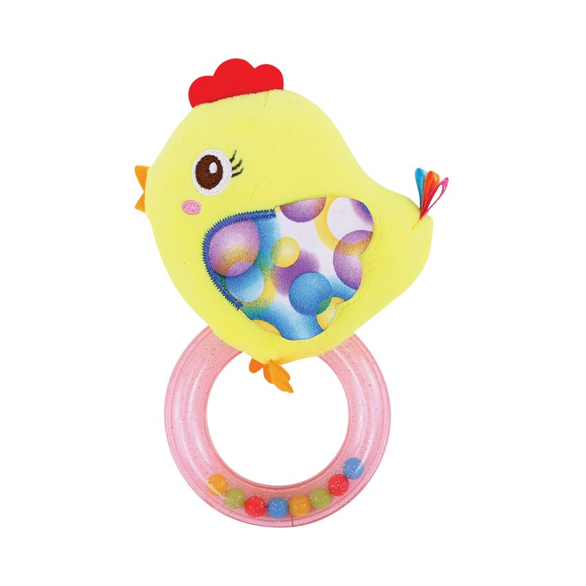 RATTLE WITH RING CHICKEN
