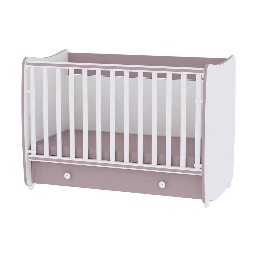 Multifunkčná detská postieľka Lorelli DREAM New 60x120 WHITE/CAPPUCCINO