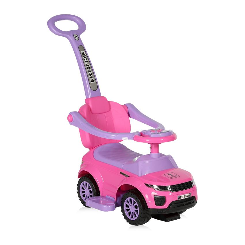 Odrážedlo auto Lorelli s vodicí tyčí PINK