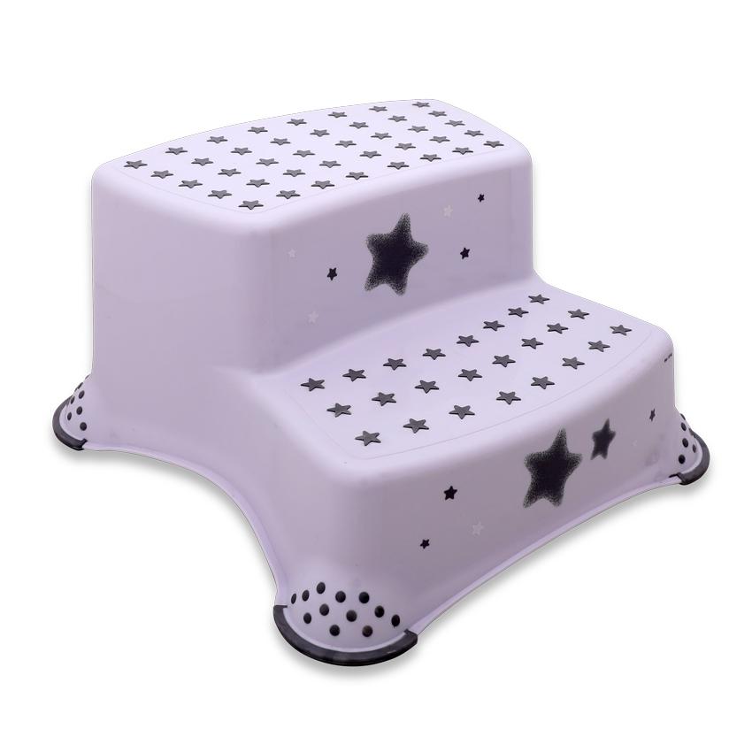 Krok stolička DOUBLE STARS WHITE