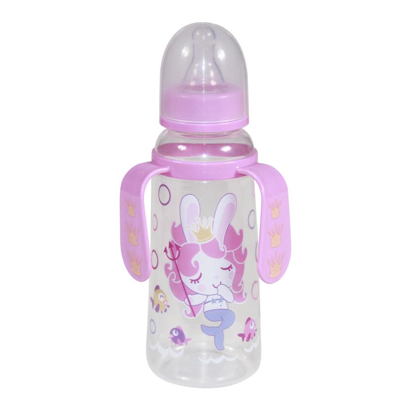 Detská fľaša s uškami Lorelli 250 ml PINK MERMAID