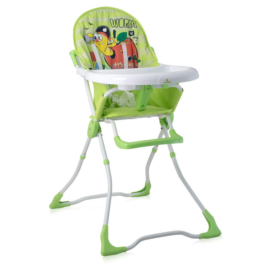 Jídelní židlička MARCEL GREEN WORM