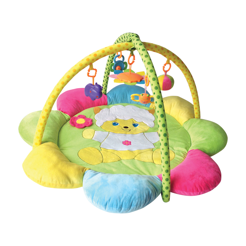 Hrací deka PLUSH PLAY GYM SHEEP 104x104