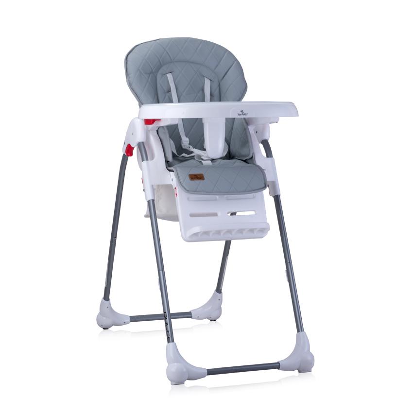 Jídelní židlička Lorelli DULCE GREY PU LEATHER