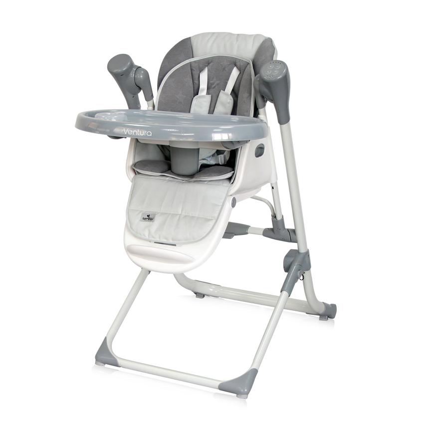 2v1 Jídelní židlička-houpačka Lorelli VENTURA COOL GREY STARS