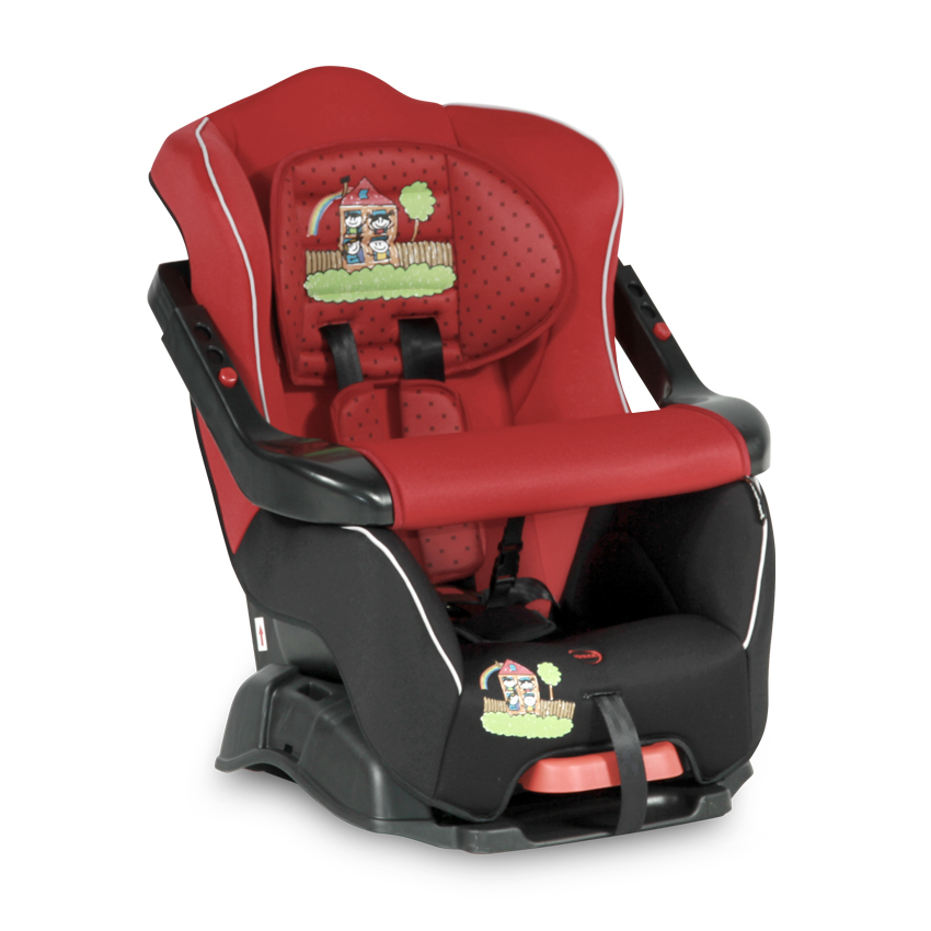 Autosedačka BUMPER 9-18KG RED&BLACK FAMILY