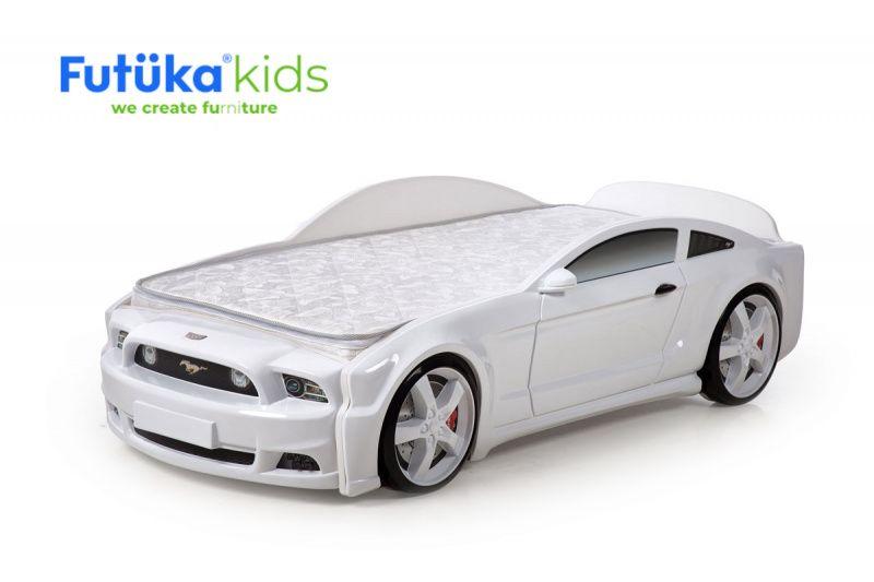Postýlka auto MUSTANG 3D bílá