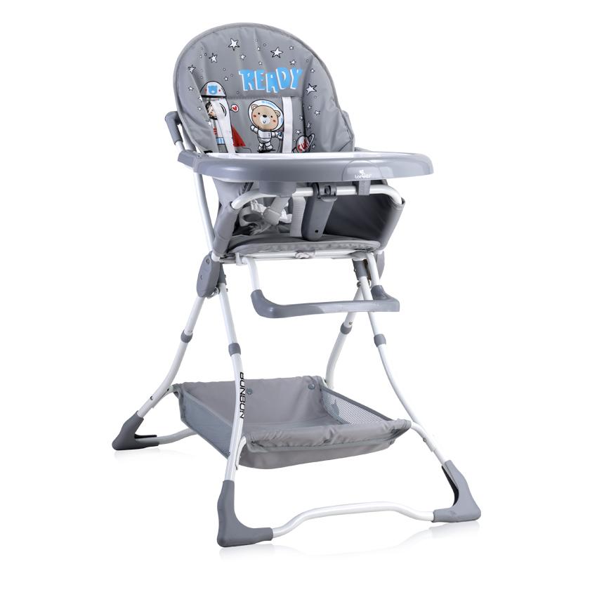 Jídelní židlička Lorelli BONBON GREY ASTRONAUTS