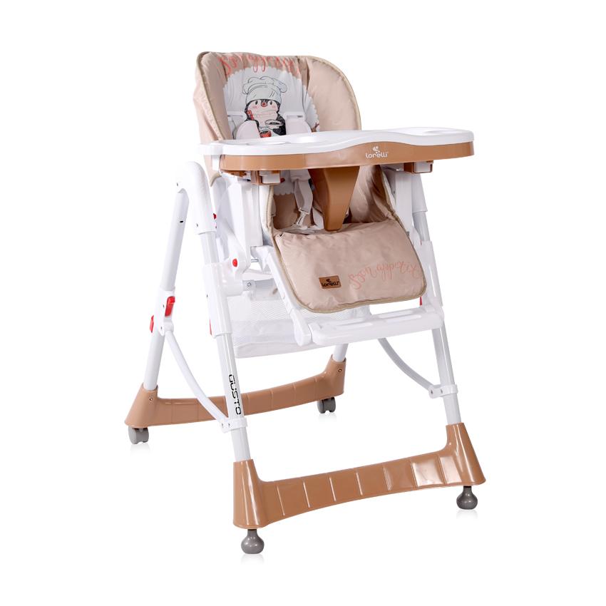 Jídelní židlička Lorelli GUSTO BEIGE PENGUIN