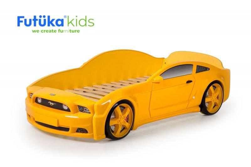 Postel auto LIGHT 3D F-Mustang žlutá
