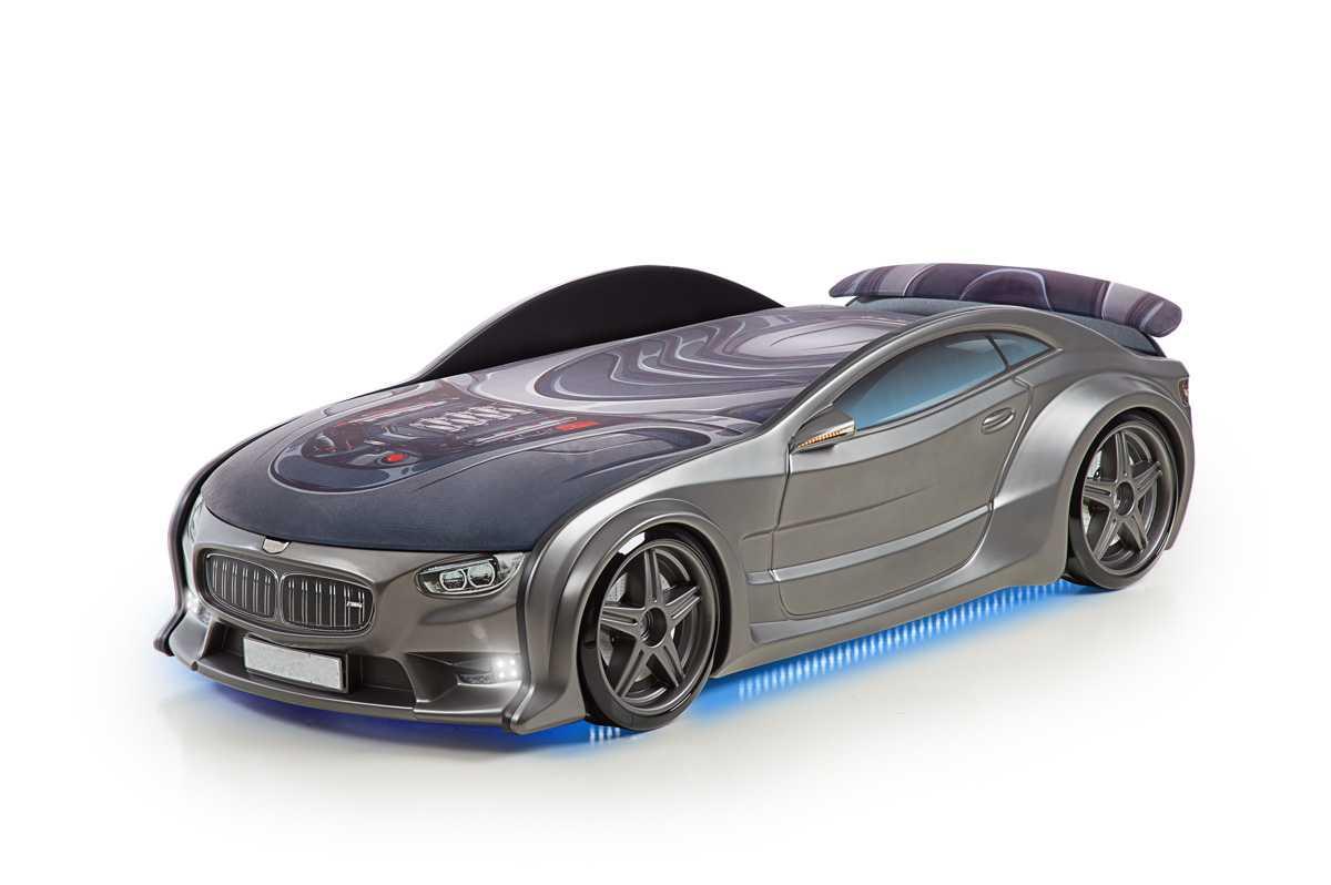 """Postel auto NEO graphite, Matrace """"3D"""", LED světla, Spodní světlo, Spojler"""
