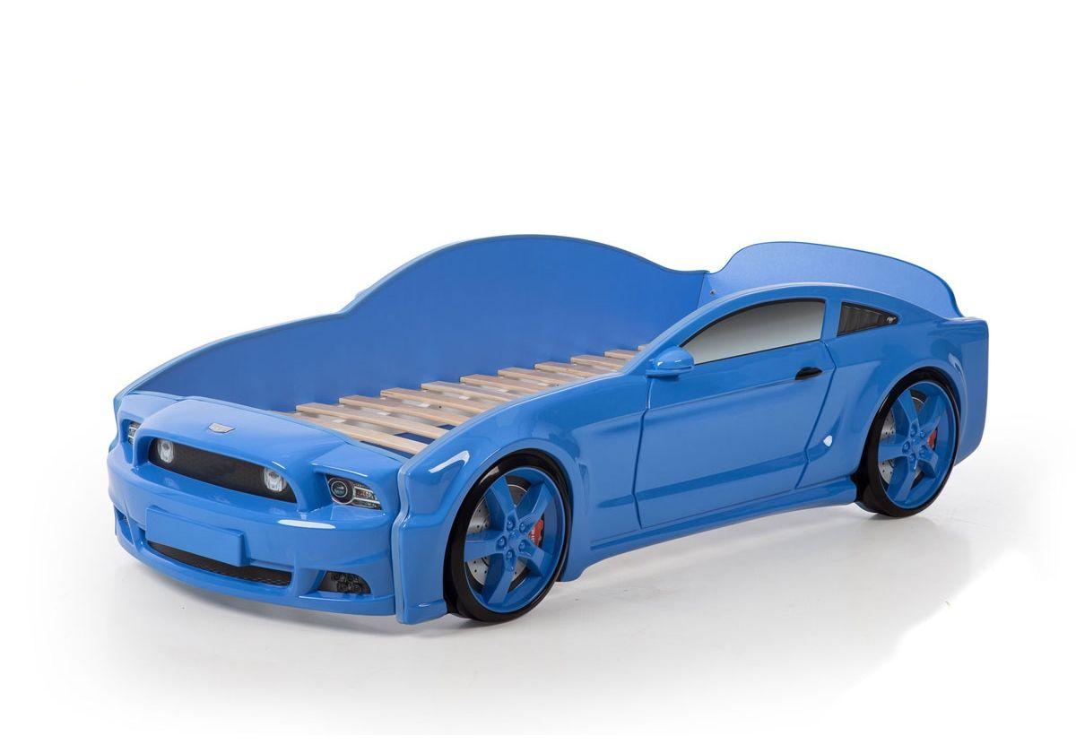 Postel auto LIGHT 3D F-Mustang  modrá
