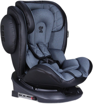 Autosedačka AVIATOR ISOFIX 0-36KG BLACK+DARK GREY
