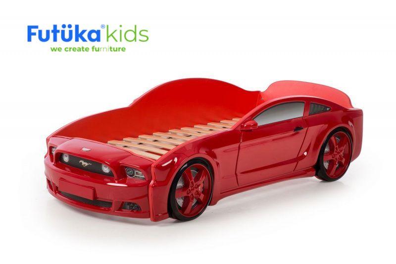 Postel auto LIGHT 3D F-Mustang červená