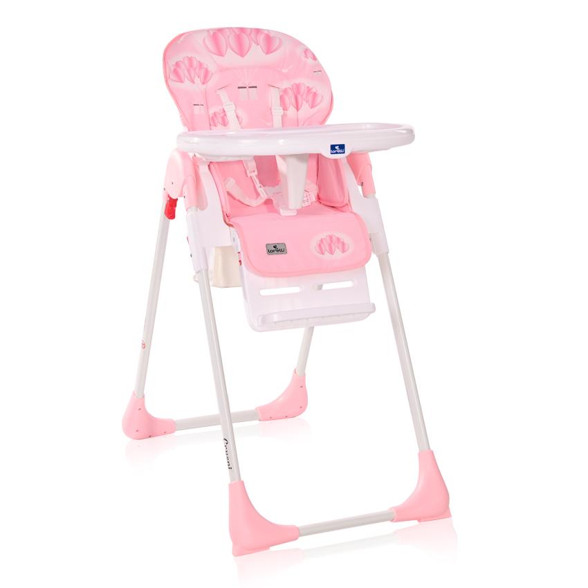 Jídelní židlička Lorelli CRYSPI PINK HEARTS