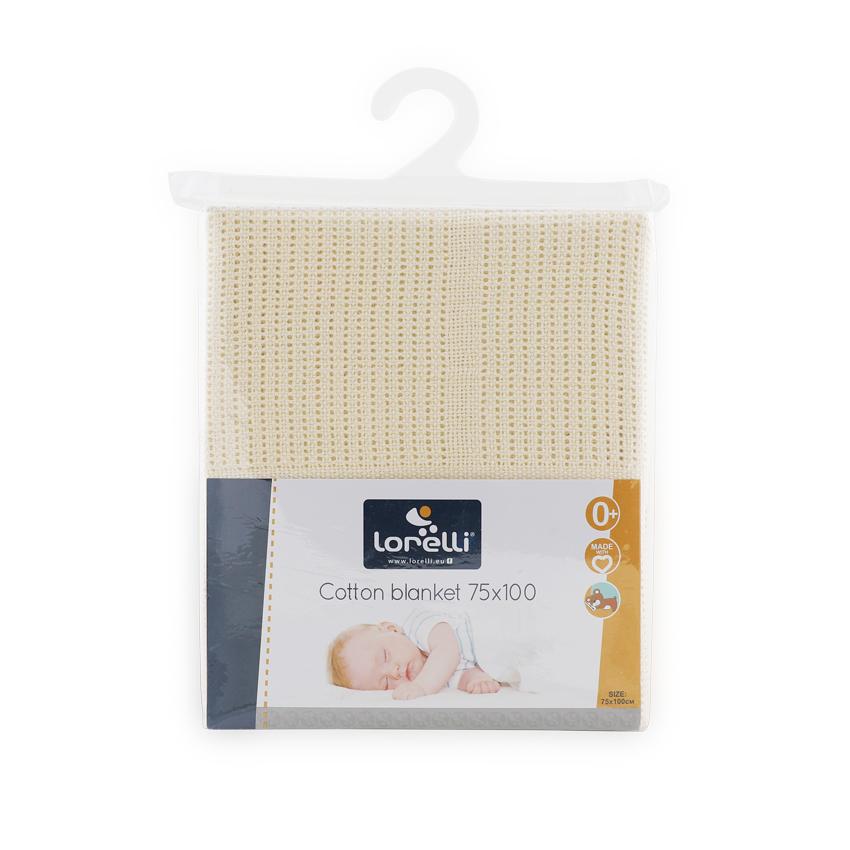 Dětská háčkovaná bavlněná deka Lorelli 75x100 cm CRÈME
