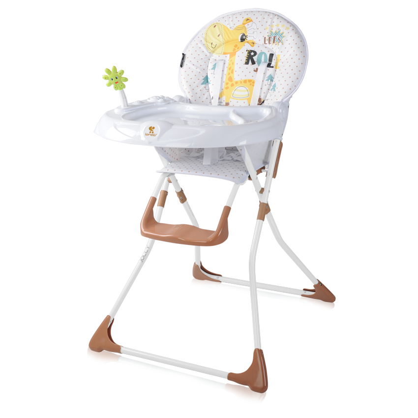 Jídelní židlička Lorelli JOLLY WHITE&BEIGE GIRAFFE
