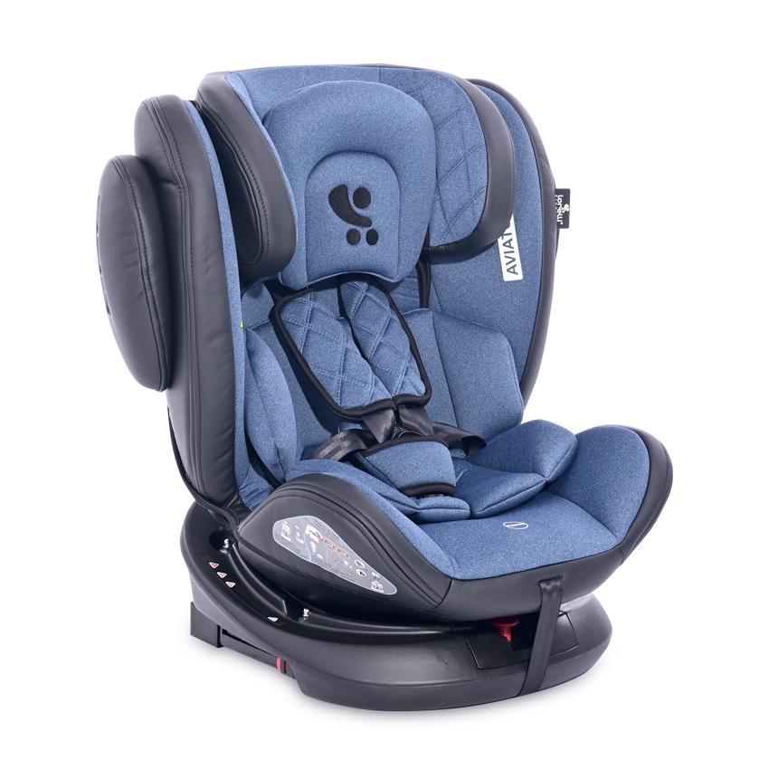 Autosedačka Lorelli AVIATOR ISOFIX 0-36 KG BLACK & BLUE
