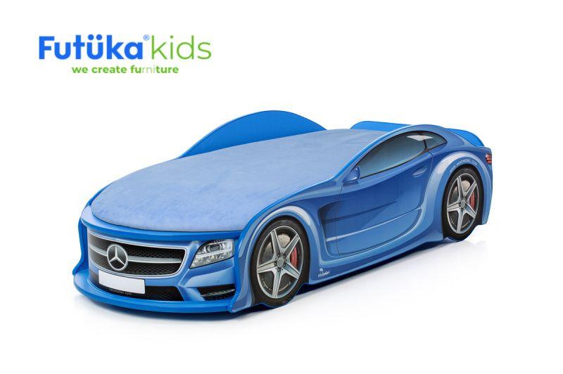 "Postýlka auto UNO Mercedes modrá,  ""Standart"", Spojler"