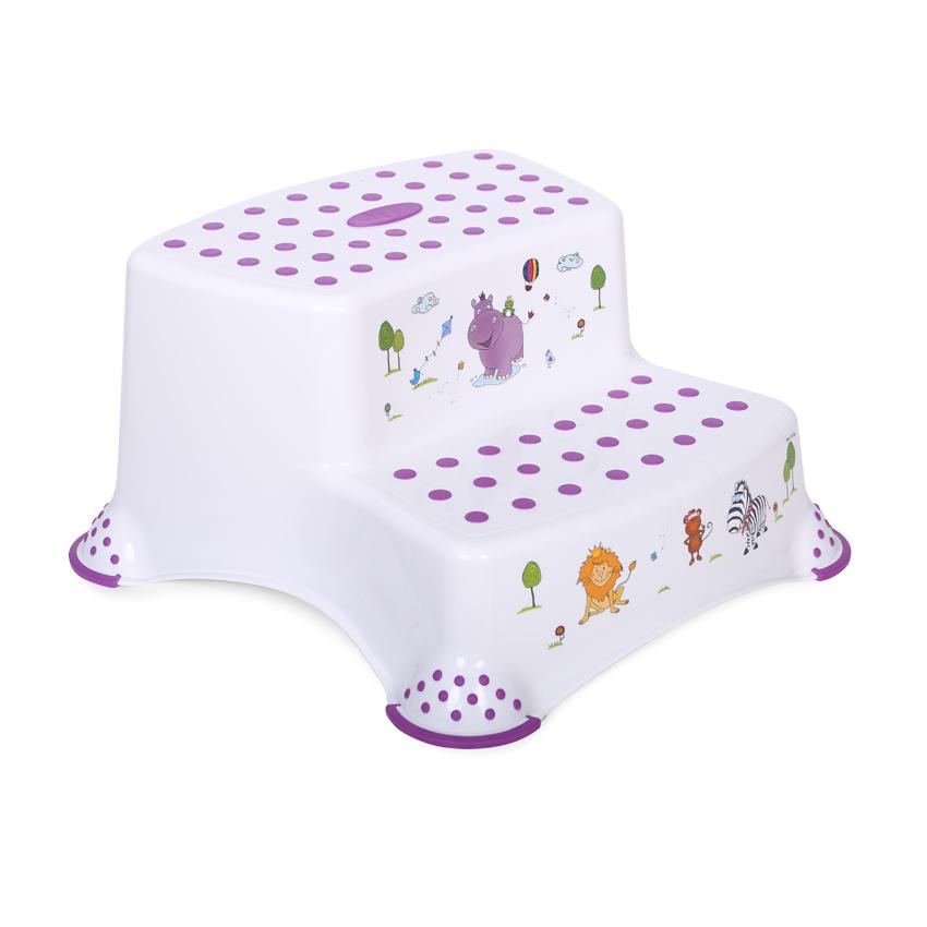 Krok stolička DOUBLE HIPPO WHITE