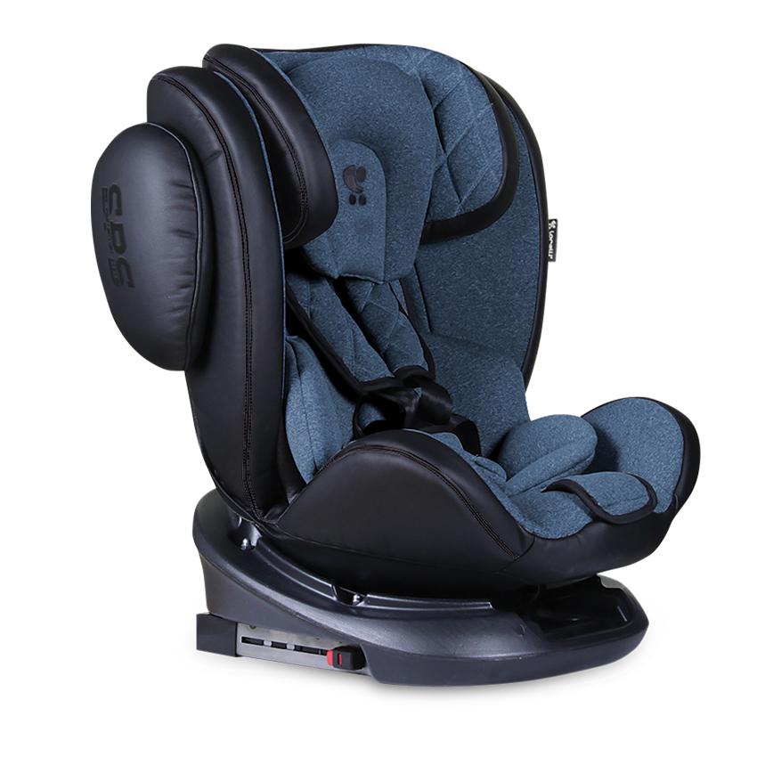 Autosedačka AVIATOR ISOFIX 0-36KG BLACK/BLUE