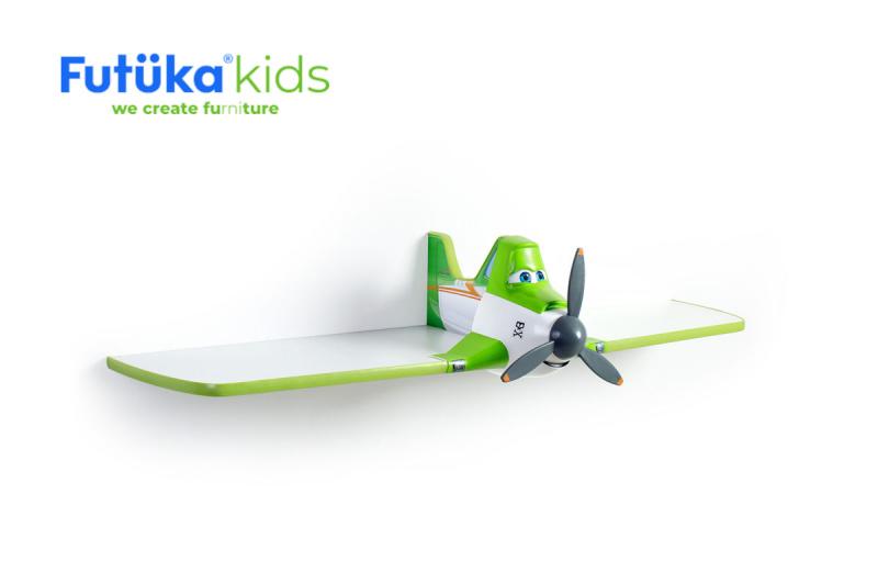 Dětská polička Futuka kids AIR jednopatrová GREEN